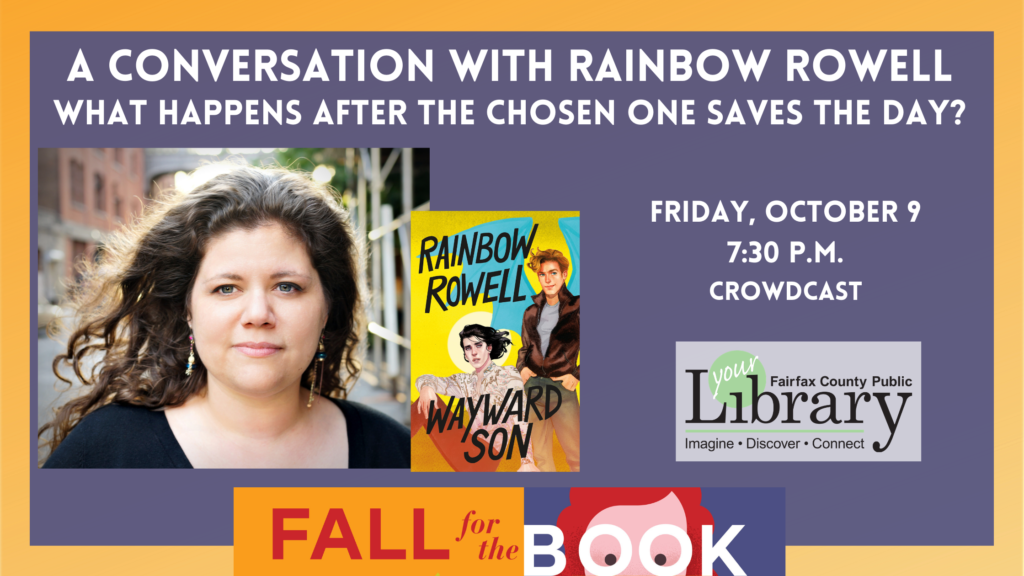 Graphic of Rainbow Rowell_Fairfax Public Library
