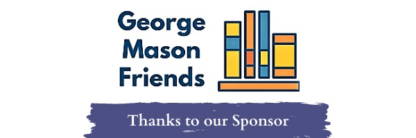 George Mason Friends logo. Thanks to our Sponsor